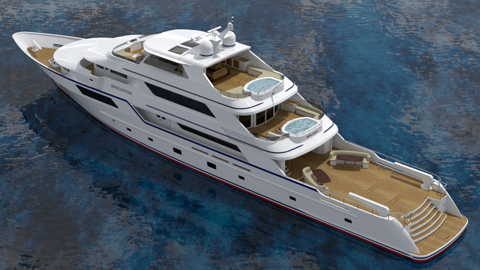 Luxury Explorer Yacht from CHY Design, 50 Meter